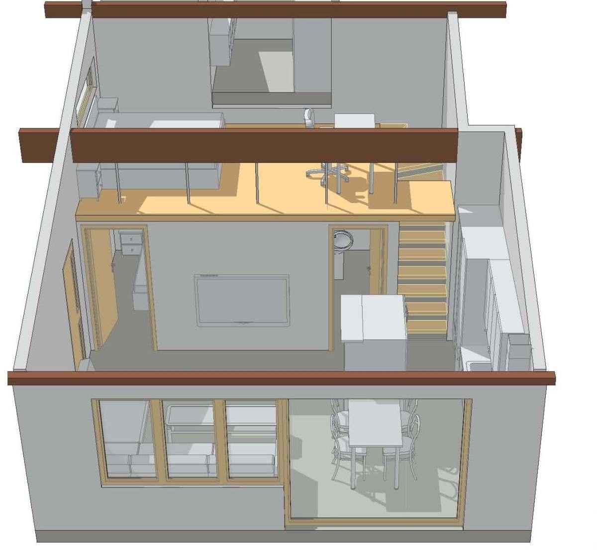 Transformation garage en studio v senaz - Transformation garage en logement ...